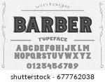 font. alphabet. script.... | Shutterstock .eps vector #677762038