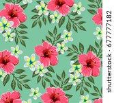 tropical flower | Shutterstock .eps vector #677777182