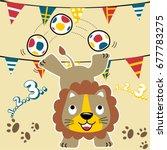 Lion Circus Player  Vector...