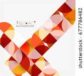 modern geometrical abstract... | Shutterstock . vector #677786482