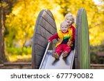kids on playground children...   Shutterstock . vector #677790082