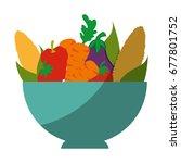 healthy vegetables design  | Shutterstock .eps vector #677801752
