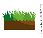 soil and grass icon | Shutterstock .eps vector #677801872