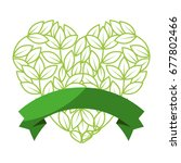 leaves in heart shape icon | Shutterstock .eps vector #677802466