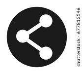 sharing social media symbol | Shutterstock .eps vector #677812546