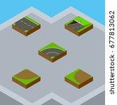 isometric way set of bitumen ...   Shutterstock .eps vector #677813062