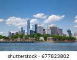 colorful daytime panorama view... | Shutterstock . vector #677823802