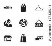 set of 9 editable shopping... | Shutterstock .eps vector #677825146