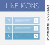 set of 6 editable hygiene icons....