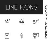 set of 6 editable teach icons....