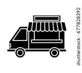 food truck icon | Shutterstock .eps vector #677828392