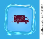 delivery sign icon  vector... | Shutterstock .eps vector #677843032