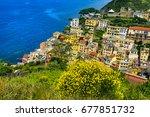 italy. cinque terre  unesco... | Shutterstock . vector #677851732