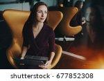 portrait of charming adult... | Shutterstock . vector #677852308