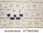 vintage photo of piece puzzle... | Shutterstock . vector #677865382