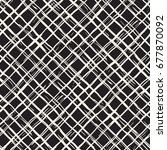 hand drawn seamless plaid... | Shutterstock .eps vector #677870092