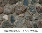 fragment of old stone wall...   Shutterstock . vector #677879536