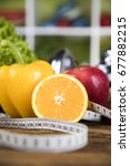 vitamin and fitness diet ... | Shutterstock . vector #677882215