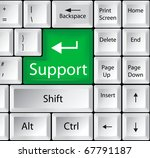 Computer Keyboard With Support...