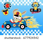 animal racer with logo and... | Shutterstock .eps vector #677924542