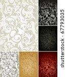 Seamless Pattern Set Of Six...