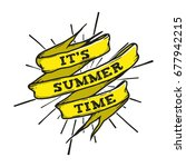 summer hand drawn banner vector ... | Shutterstock .eps vector #677942215