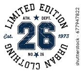 limited edition no. 26 tee... | Shutterstock .eps vector #677947822