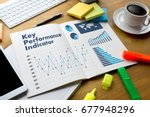 kpi acronym  key performance... | Shutterstock . vector #677948296
