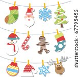 christmas decoration | Shutterstock .eps vector #67795453