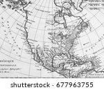 old map america | Shutterstock . vector #677963755