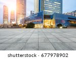 city square and modern... | Shutterstock . vector #677978902