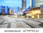 city square and modern... | Shutterstock . vector #677979112