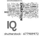 what is iq text word cloud... | Shutterstock .eps vector #677989972