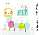 i can fly  doodle vector...   Shutterstock .eps vector #677990716