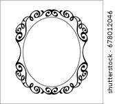 decorative vintage frame ...   Shutterstock .eps vector #678012046