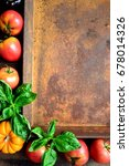 Tomatoes Summer Vegetables Wit...