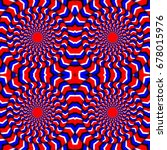 hypnotic of rotation. perpetual ... | Shutterstock .eps vector #678015976