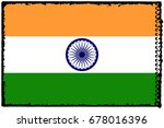 india flag grunge background.... | Shutterstock . vector #678016396