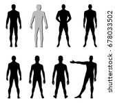 fashion man body set full... | Shutterstock . vector #678033502