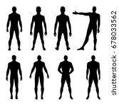 fashion man body set full... | Shutterstock . vector #678033562