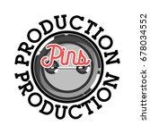 color vintage pins production...   Shutterstock .eps vector #678034552