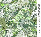 tracery seamless pattern.... | Shutterstock .eps vector #678034882