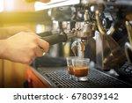 barista making perfect shots of ... | Shutterstock . vector #678039142