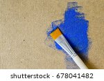 brushes on the background of a...   Shutterstock . vector #678041482