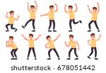 set of a happy male character.... | Shutterstock .eps vector #678051442