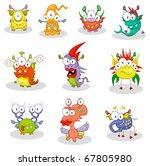 cartoon monsters for halloween... | Shutterstock .eps vector #67805980