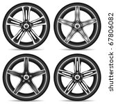 aluminum wheel set   vector... | Shutterstock .eps vector #67806082