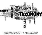 what is blooms taxonomy text... | Shutterstock .eps vector #678066202