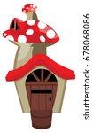 cartoon house of mushroom... | Shutterstock .eps vector #678068086