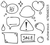 collection of hand drawn think... | Shutterstock .eps vector #678068215